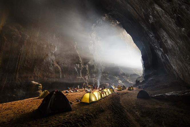 Campsite inside the Son Doong cave